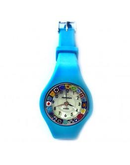 Часы миллефиори на силиконовом ремешке