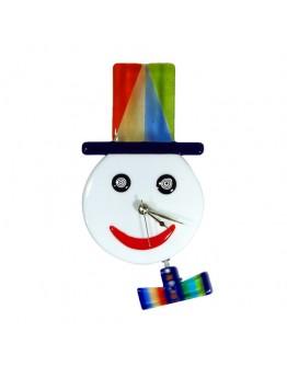 Часы настенные снеговик