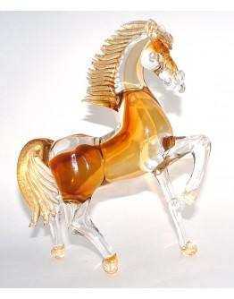 Скульптура Конь с сусальным золотом