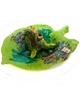 Скульптура Лягушка царевна на кувшинке