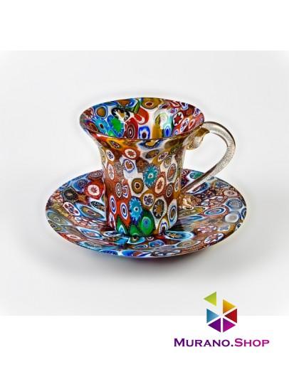 Чашка с блюдцем Миллефиори