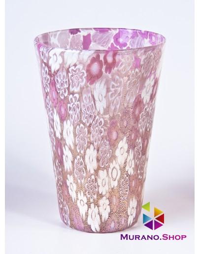 Стакан миллефиори розовый