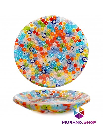 Тарелка круглая миллефиори