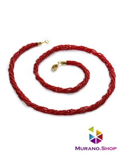 Бисерное ожерелье из Венецианского бисера 6 нитей