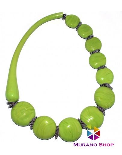 Колье Круасан софиатто зеленое