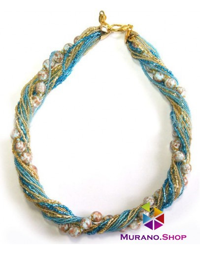 Ожерелье бисерное Мимоза