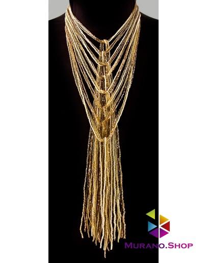 Ожерелье из Венецианского бисера 24 нити