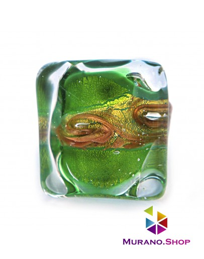 Кольцо Аква зеленое