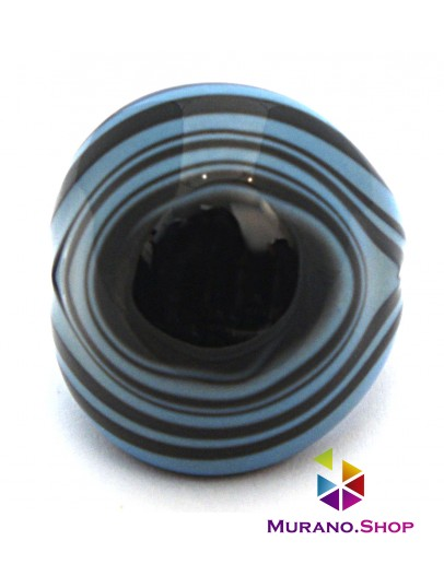 Кольцо Кабашон бомбатто полосатое