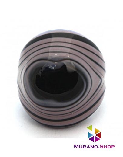 Кольцо Кабашон бомбатто полосатое XI