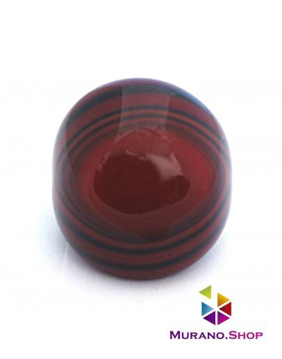 Кольцо Кабашон полосатое