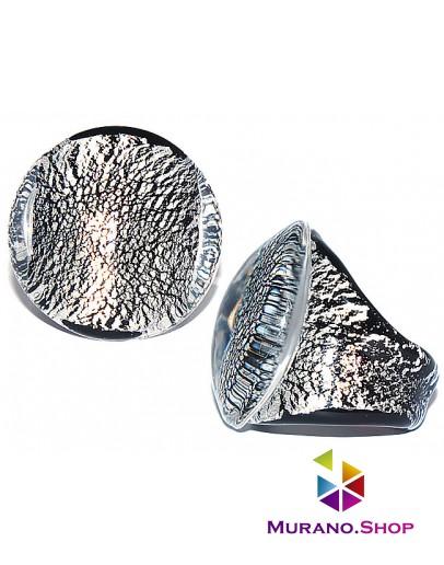 Кольцо Кабашон с серебром