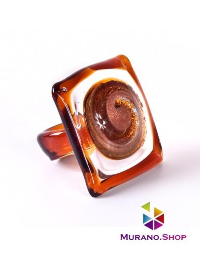 Кольцо квадратное прозрачное