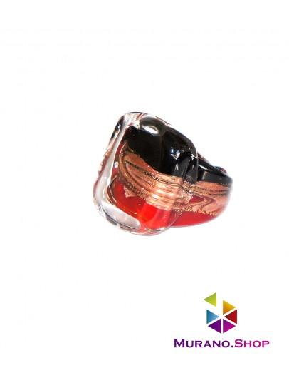 Кольцо квадратное с узором