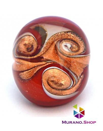 Кольцо Двухцветное с узором