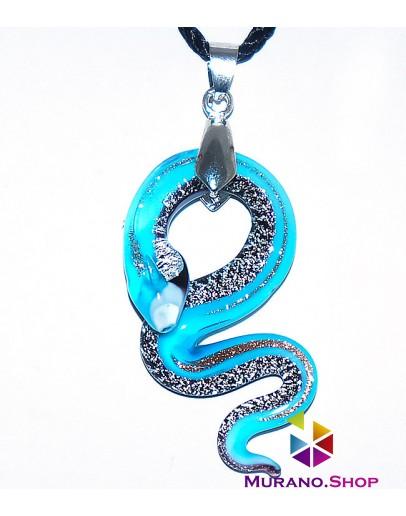 Подвеска Змейка с серебром