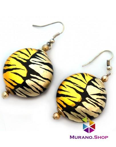 Серьги софиатто тигровые